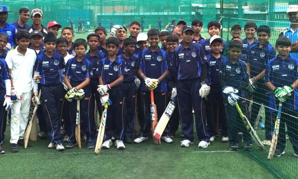 Young Indian cricketers at KIOC