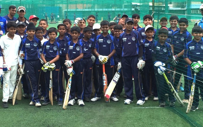 Young Indian cricketers at KIOC